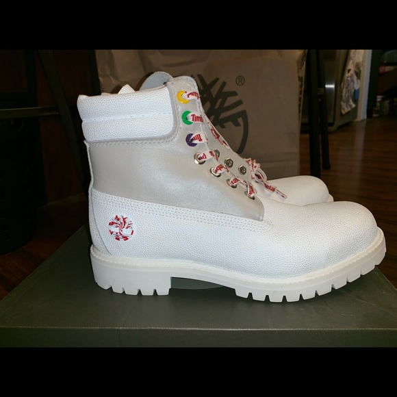 White Leather Boots Christmas Edition